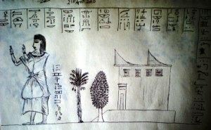 hieroglyphs sketch