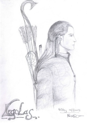 elf sketch, legolas