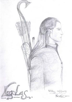 elf sketch, legolas