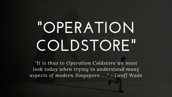 Geoff Wade on Operation Coldstore