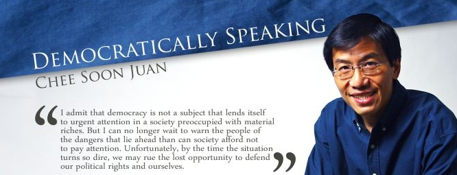 Book Review: Democratically Speaking, by Chee Soon Juan