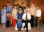 LKY Family Photo. Kwa Geok Choo is seated in front wearing the gold coin necklace.