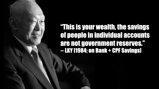 Lee Kuan Yew on CPF