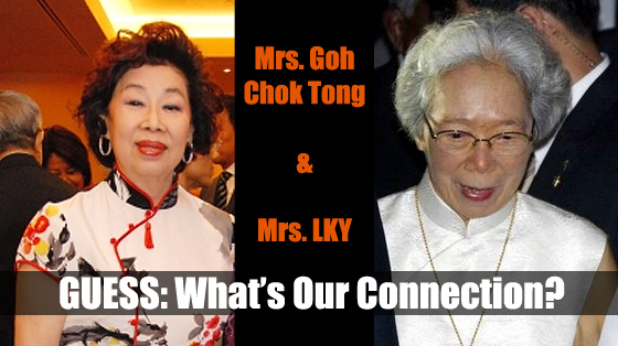 Mrs. Goh Chok Tong and Mrs. LKY
