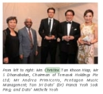 Christine Tan and S. Dhanabalan. Source: YTL Corporation