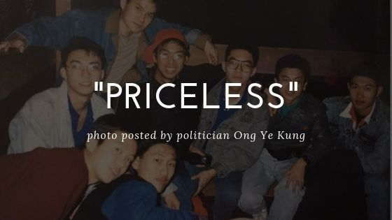 "Ong Ye Kung, ""Priceless"" Photo"